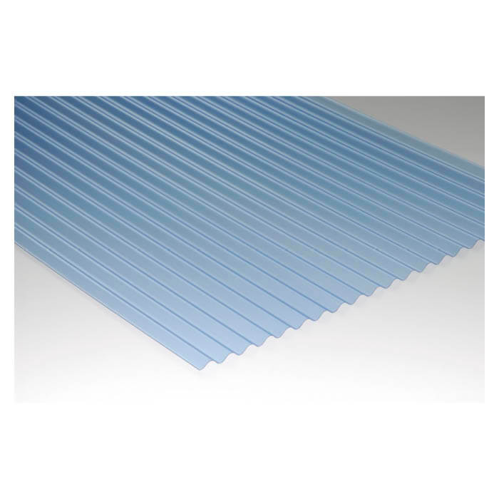 ShinEtsu ビニール 波板 ブルー 3尺長