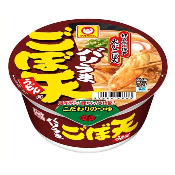 東洋水産 マルちゃん バリうまごぼ天うどん 12食入り ケース