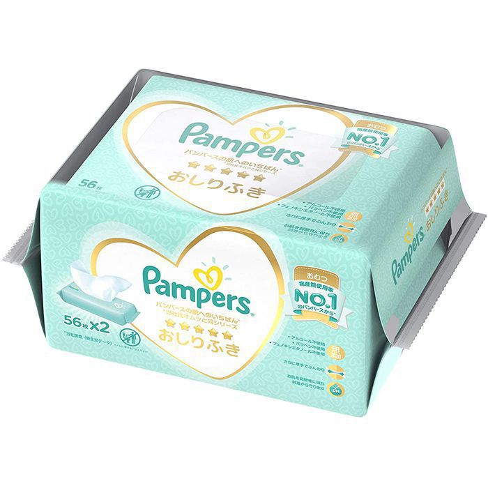 P&Gジャパン パンパース肌いちばん おしりふき 56枚2P