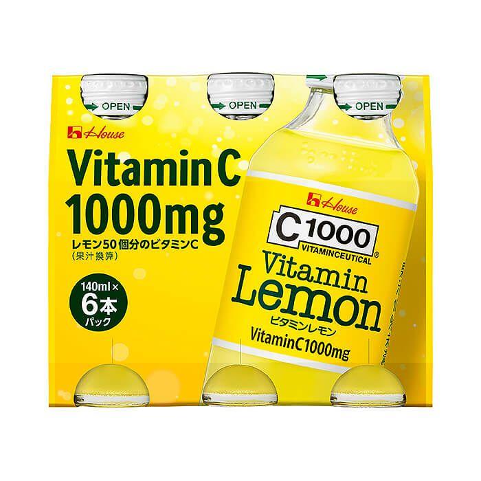 ハウス食品 C1000 ビタミンレモン 140ml×6本パック ケース(30本入リ)