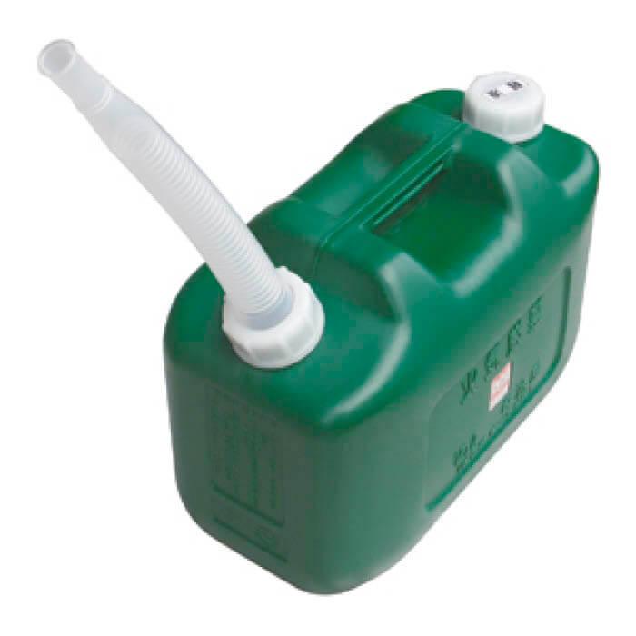 ポリエチレン軽油缶10L緑 D-KEIYU10L