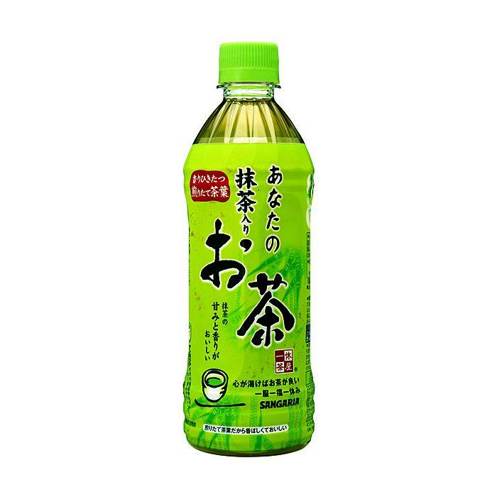 日本サンガリア あなたの抹茶入りお茶 500ml×24本 ケース