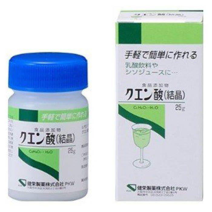 健栄製薬 クエン酸結晶 25g
