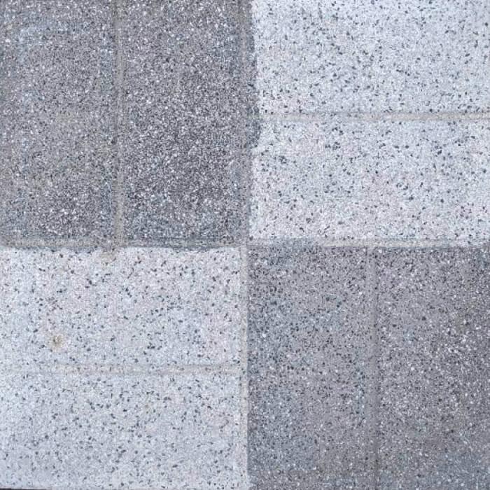 ショットレンガ平板400角 グレー 約400×400×35mm