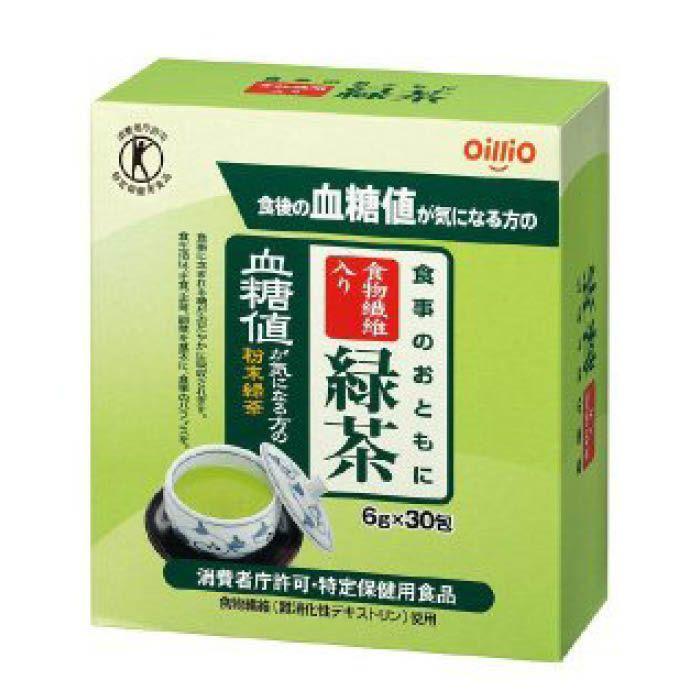 日清オイリオ 食事のおともに食物繊維入り緑茶 6G×30包
