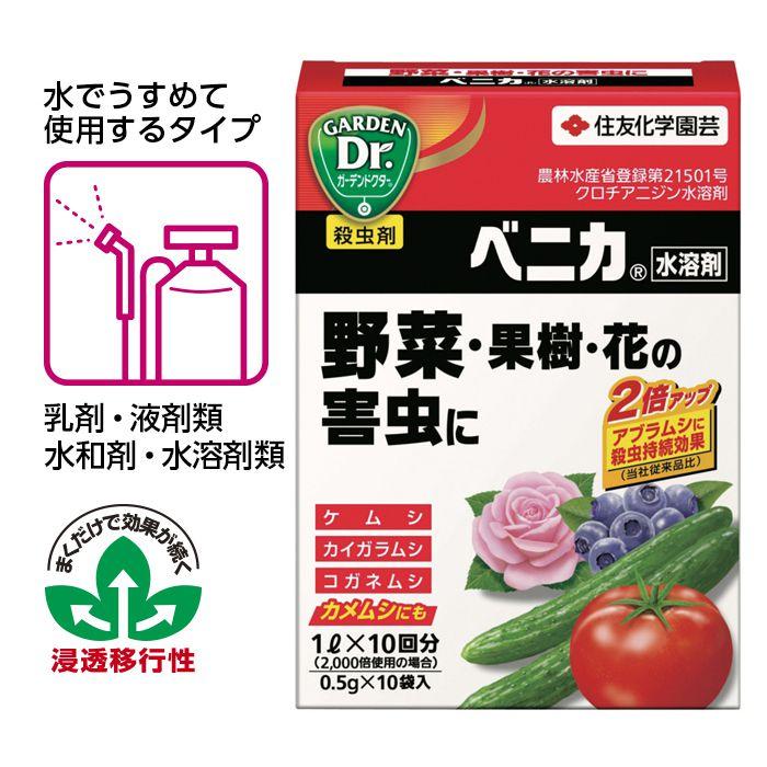 ベニカ水溶剤 0.5g×10袋入(分包品)
