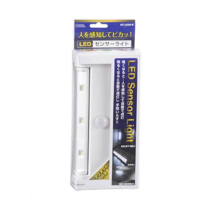LEDセンサーライト NIT-L033M-W