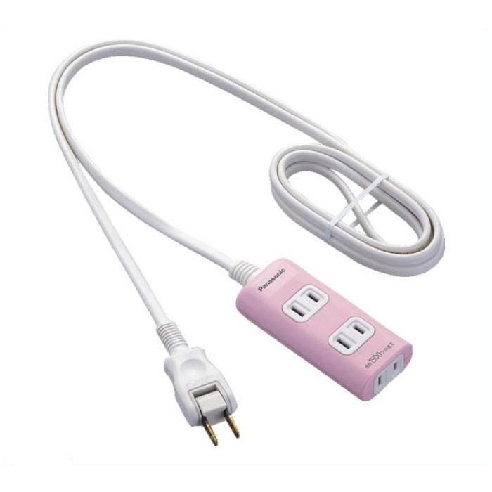 Panasonic ザ・タップQ 3コ口 2mコード付 ピンク