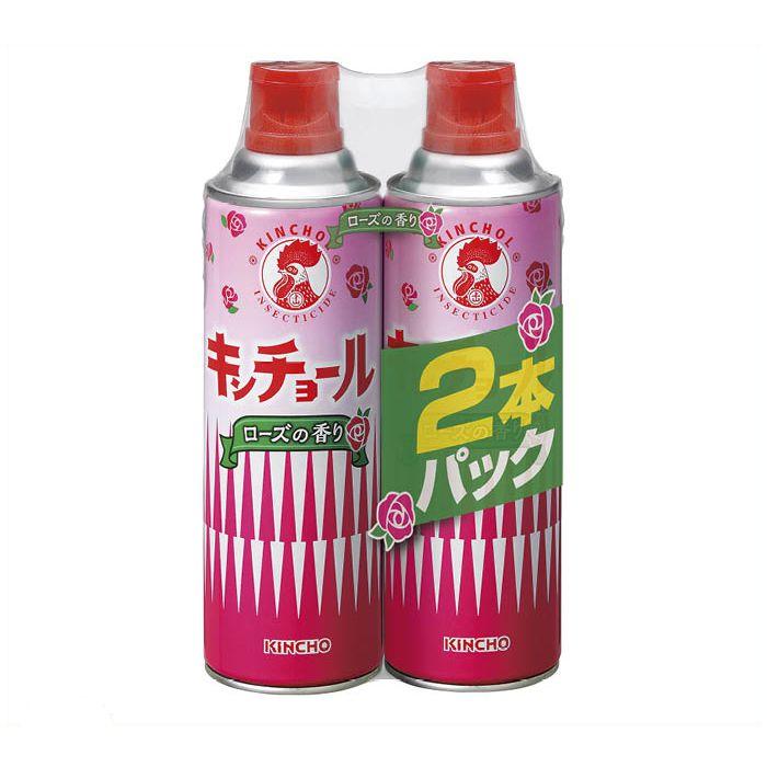 【殺虫剤特集】 金鳥 キンチョールローズ 2本パック