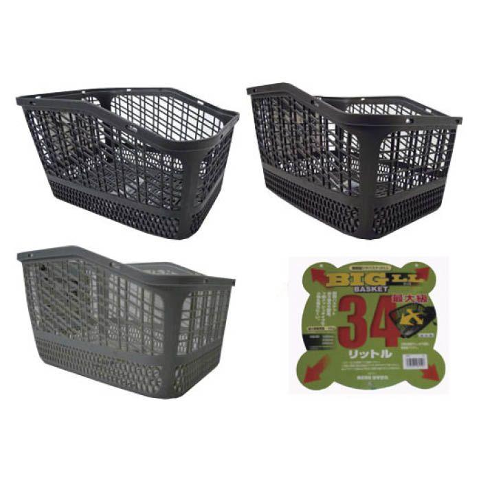 サギサカ リヤカゴ 特大樹脂リヤバスケット 34L(LL) BK 48951