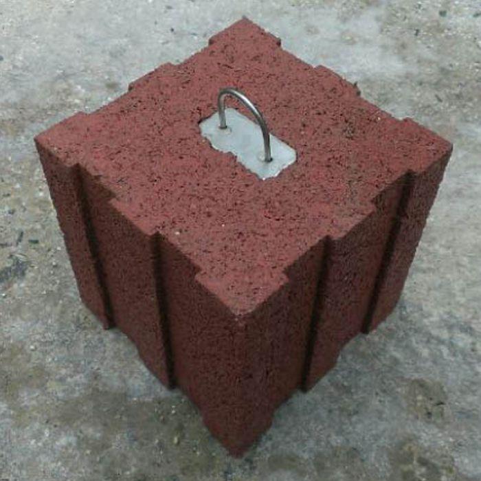オーニング用ウエイトブロック レッド 約140x140x143mm