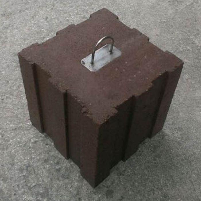 オーニング用ウエイトブロック ブラウン 約140x140x143mm