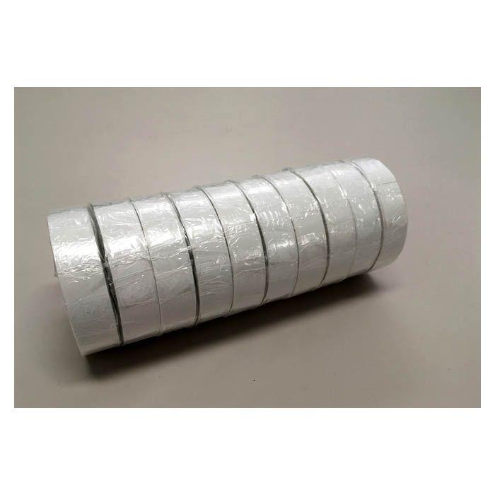 ビニールテープ 10P 白 19mm×20m