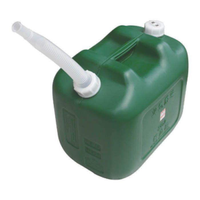ポリエチレン軽油缶20L緑 D-KEIYU20L