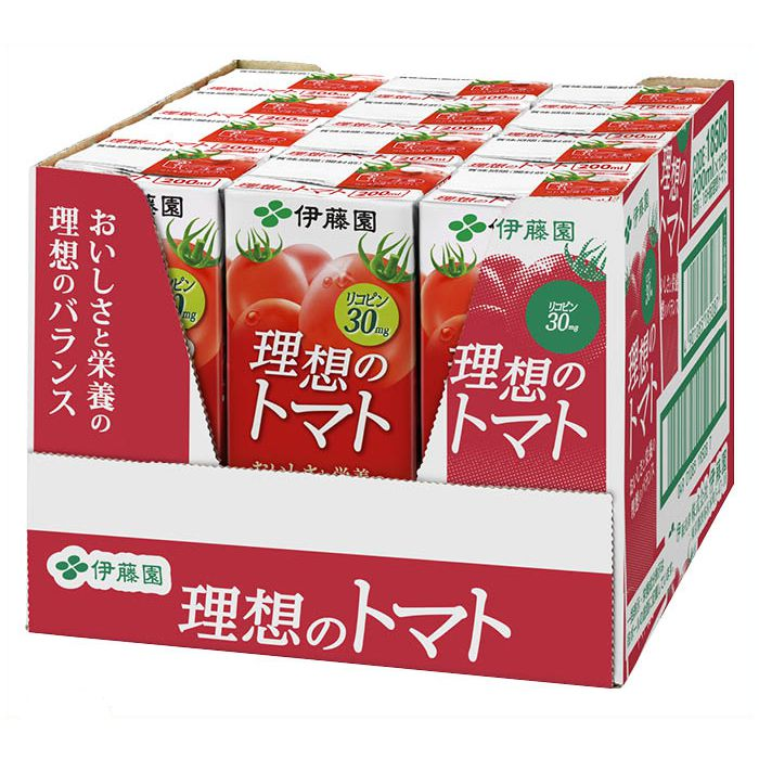伊藤園 理想のトマト 200ml×12本パック