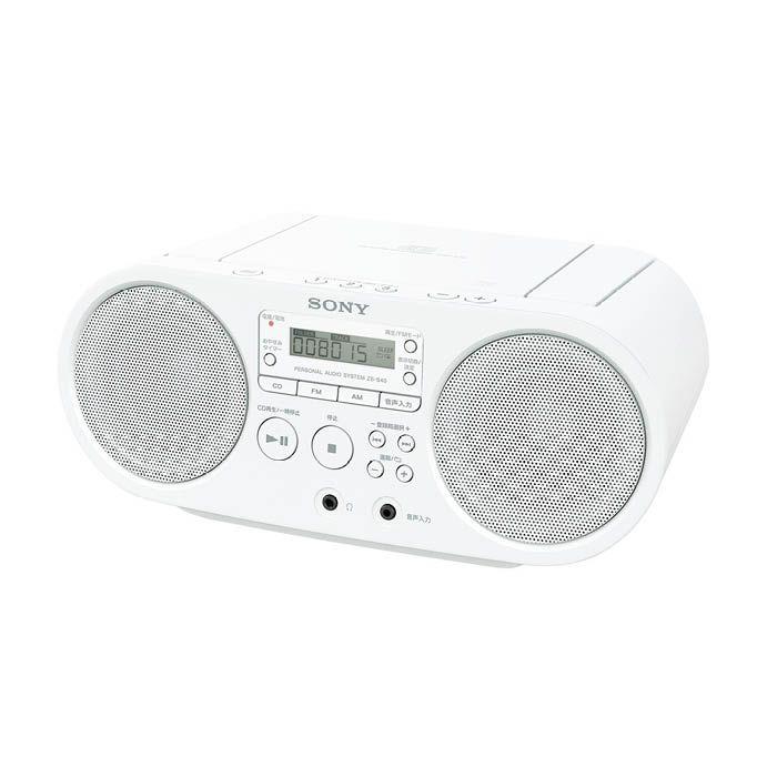 SONY SONY CDラジオ ZS-S40 W