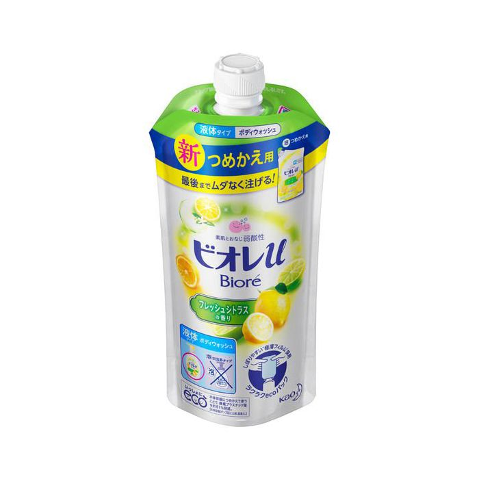 花王 ビオレu フレッシュシトラスの香り つめかえ用 340ml