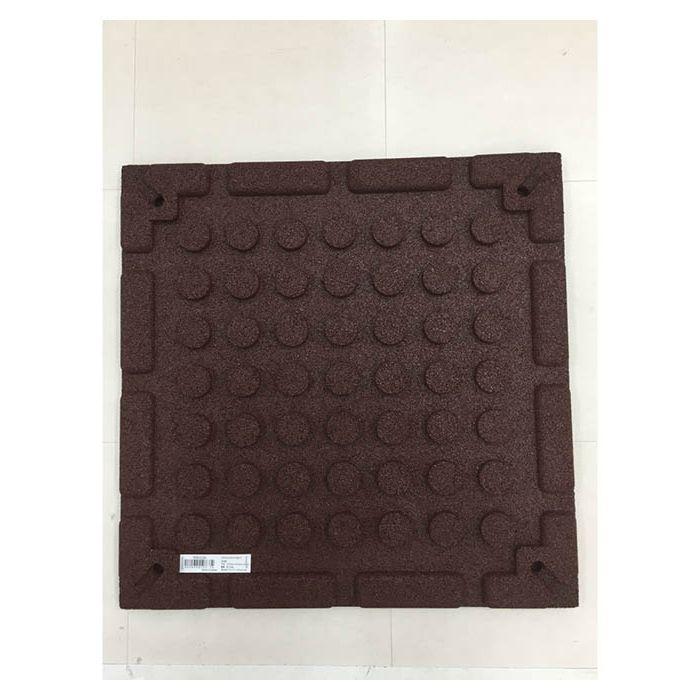 エックスジョイントラバーマット 51cm×51cm レッド(1枚)