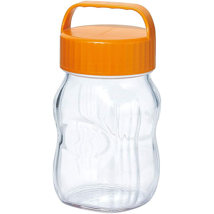 フルーツシロップ瓶O 1L-オレンジ