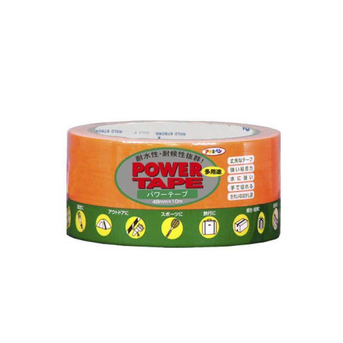 パワーカラーテープ 48cm×10m蛍光オレンジ