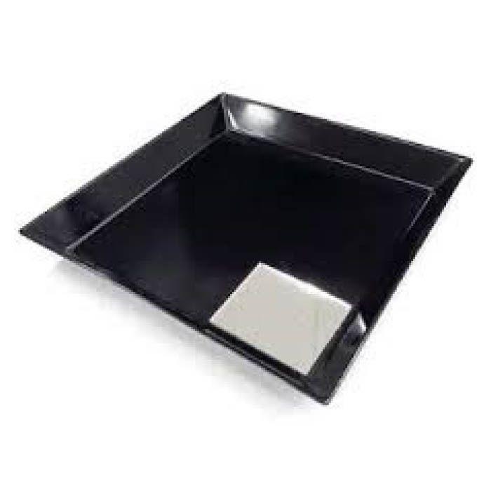 カルトン皿 角 一部鏡付 K-7 黒