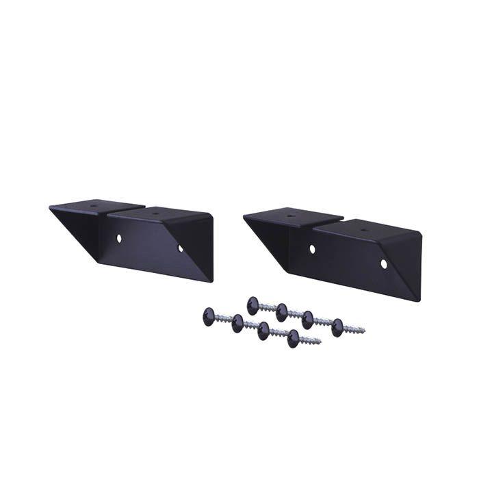平安伸銅工業 シェルフサポートアイアン ブラック