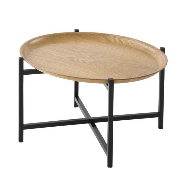 トレーテーブル オーバルウッド NTP2098