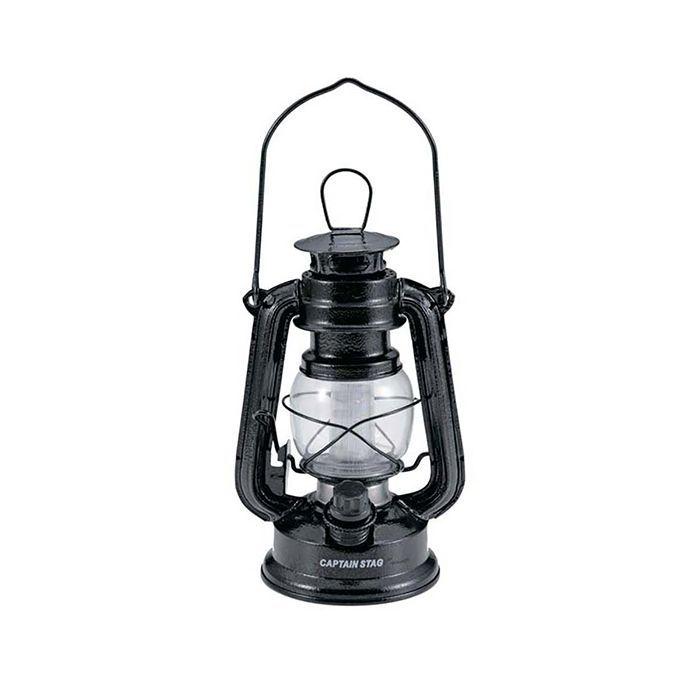 アンティーク暖色LEDランタン(ハンマートン ブラック) UK-4016