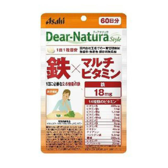 アサヒグループ食品 ディアナチュラ スタイル鉄×マルチビタミン 60粒