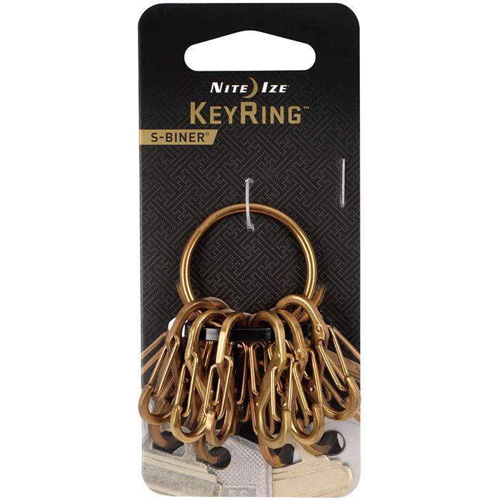 ナイトアイズ KeyRing Steel ブラス