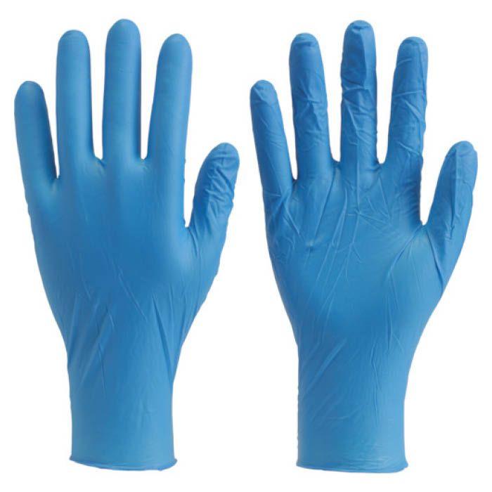 (T)TRUSCO(トラスコ) 使い捨て極薄手袋ニトリル製粉付きMブルー(100枚入)