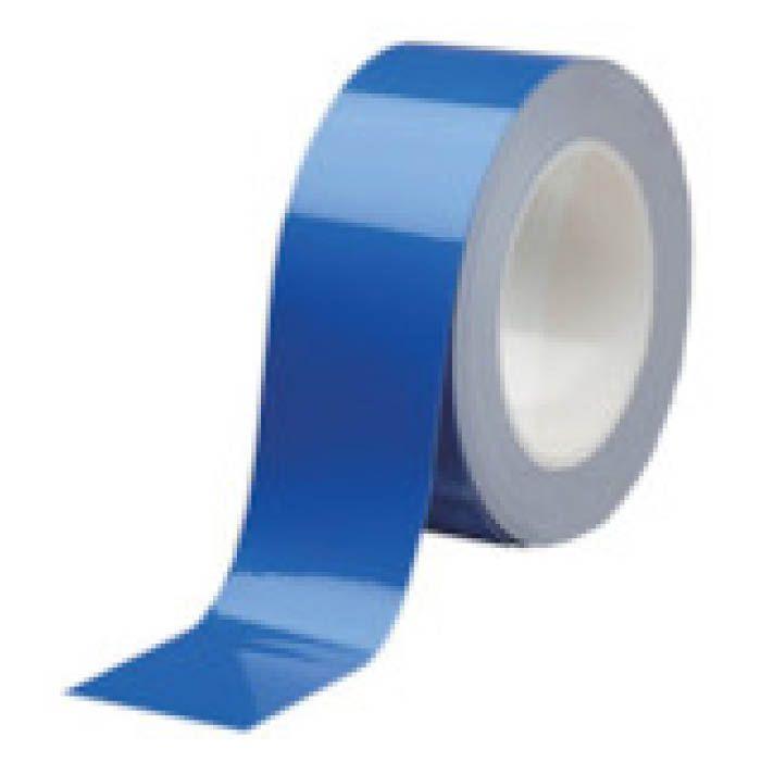 (T)ミドリ安全 ベルデビバハードテープ 青 50mmX20m