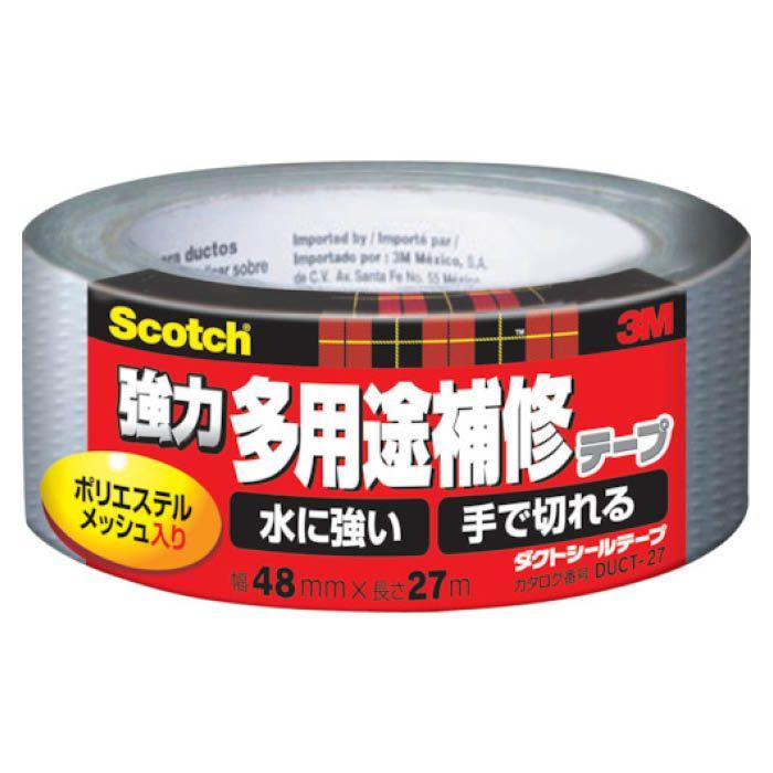 (T)3M(スリーエム) スコッチ 強力多用途補修テープ 48mmX27m シルバー DUCT-27