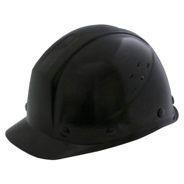 (T)ミドリ安全 FRP製 通気孔付ヘルメット ブラック