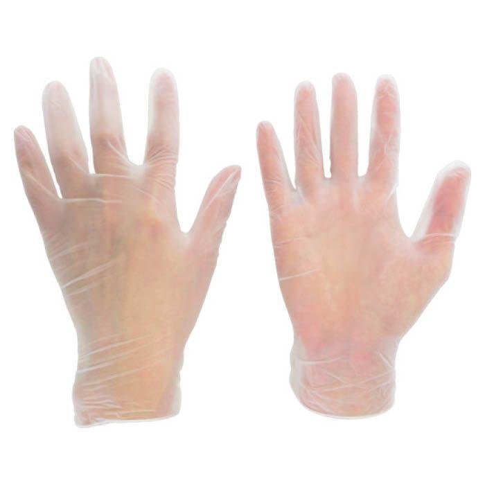 (T)ミドリ安全 塩化ビニール製 使い捨て手袋 粉なし  S (100枚入)