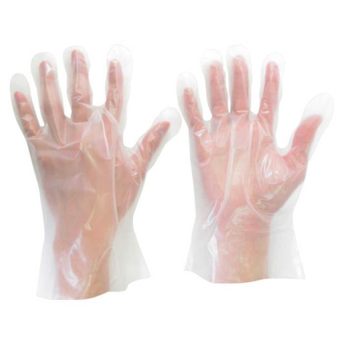 (T)ミドリ安全 ポリエチレン使い捨て手袋 外エンボス  L (200枚入)