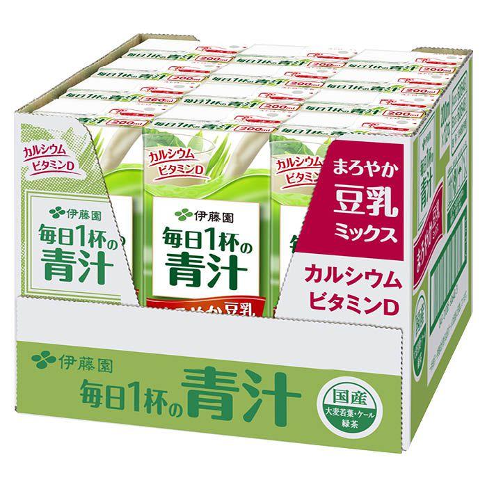 伊藤園 毎日1杯の青汁 まろやか豆乳ミックス 200ml×12本パック