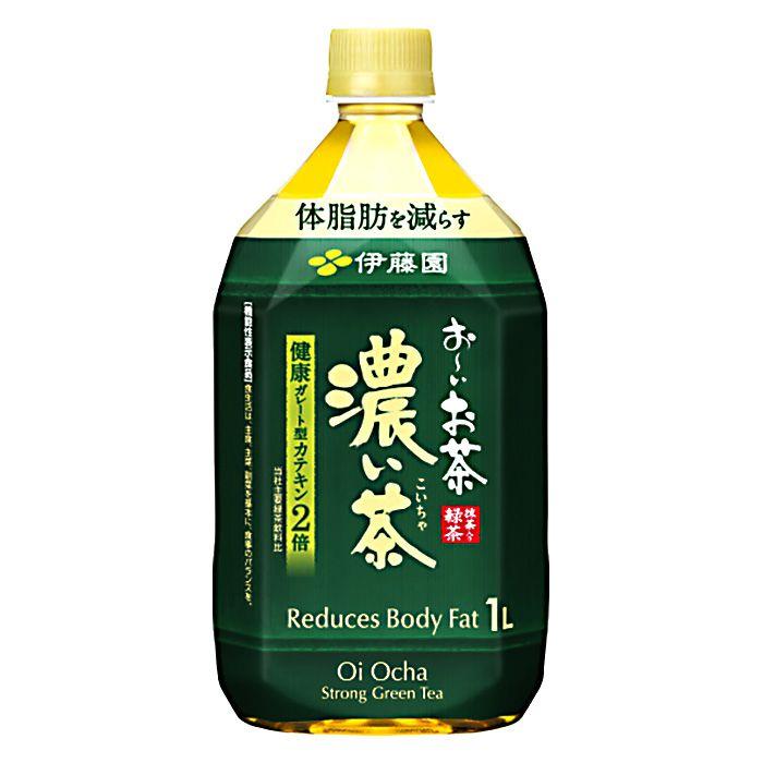 伊藤園 おーいお茶 濃い茶 1L×12本 ケース