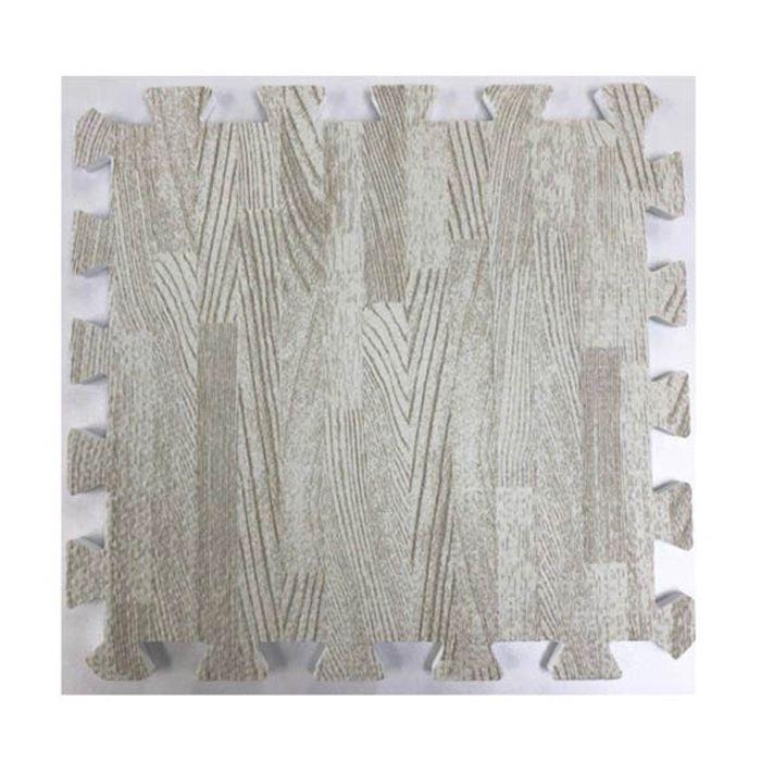 木目ジョイントマット(フチ付き) 30×30×1cm WH (9枚セット)