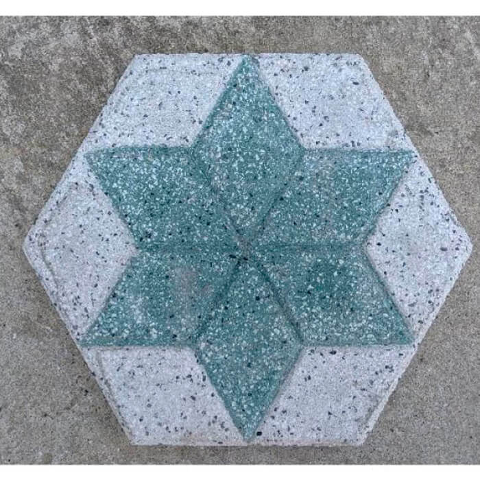 ショット平板六角形 グリーン 約290×250×25mm