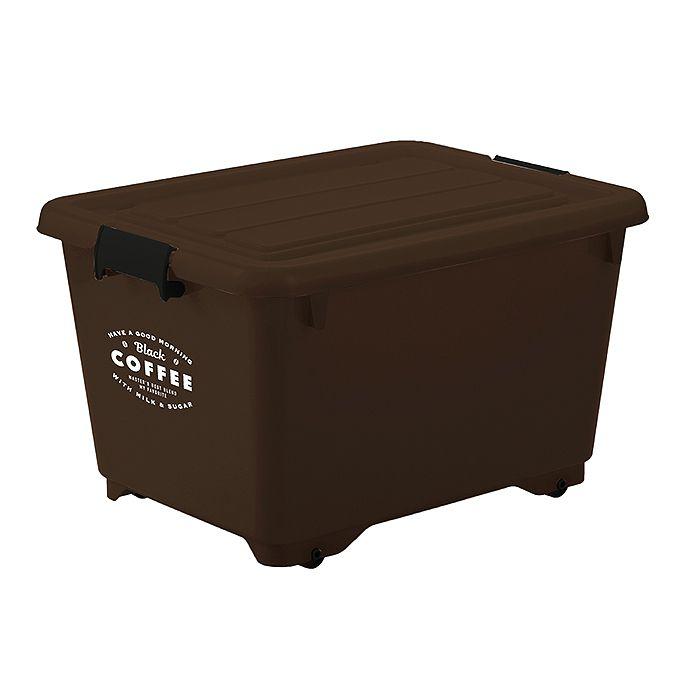 (★)JEJ コロ付収納BOX深50 コーヒーブラウン