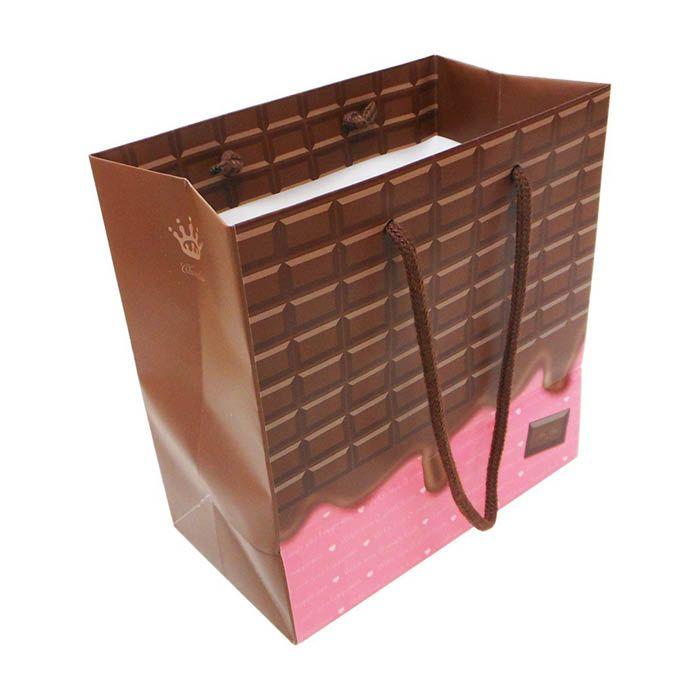 エヒメ紙工 デザイン紙袋S チョコ CHO-S