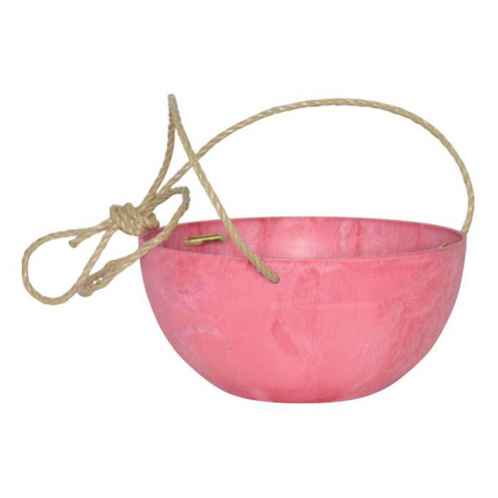 アートストーンハンギングボール ピンク