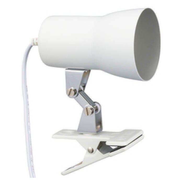 オーム電機 クリップライト E17 ホワイト LTC-N117AW-W