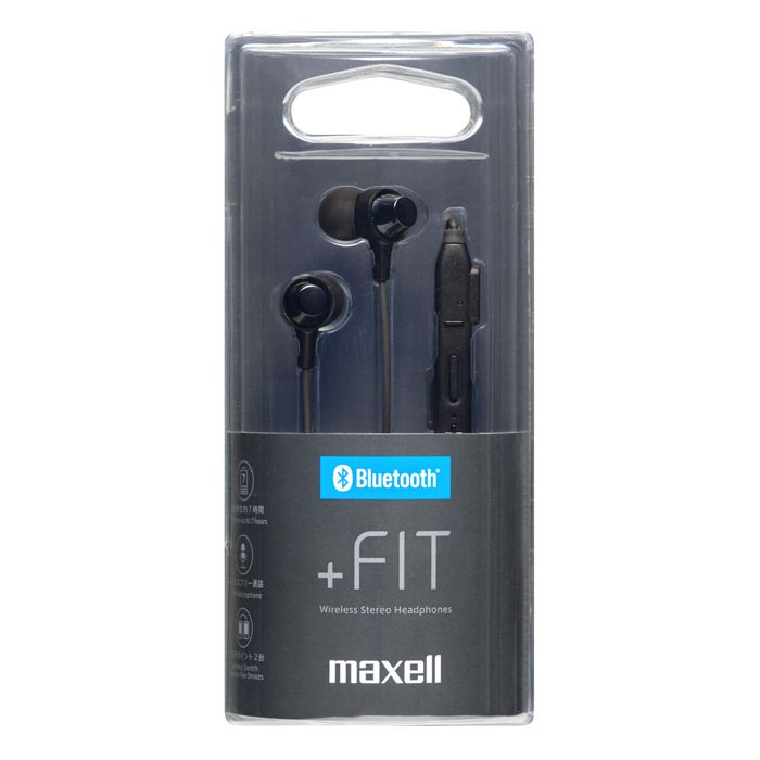 マクセル Bluetooh イヤホン MXH-BTC110 BK