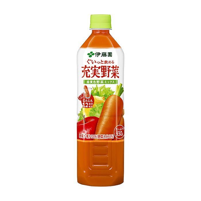伊藤園 充実野菜 緑黄食野菜ミックス 930g×12本 ケース