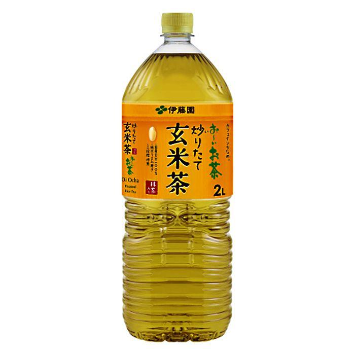 伊藤園 おーいお茶 炒りたて玄米茶 2L×6本 ケース