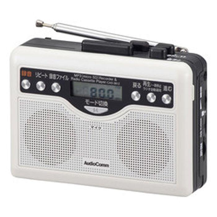 オーム電機 デジタル録音ラジオカセット CAS-381Z