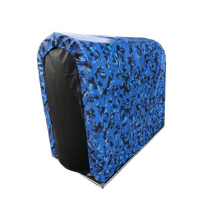 南榮工業 迷彩柄サイクルハウス2台用 ブルー SN3MEBLTFR