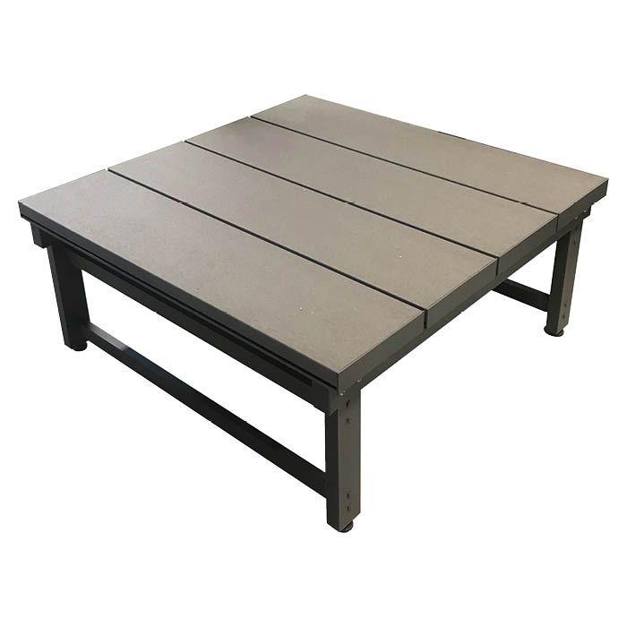 旭興進 人工木アルミデッキ T3型9090 アッシュブラウン(AB)